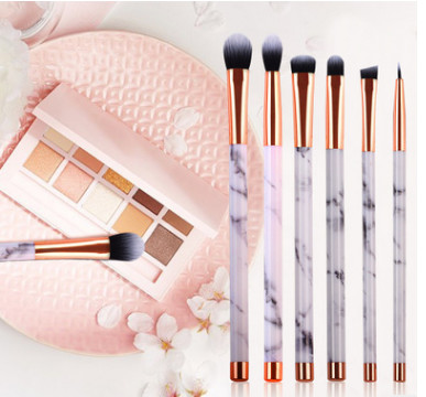 High quality marble lines customized hot sell makeup brush with package