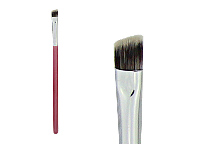 Portable Nylon Hair Double Ended Eyebrow Brush For Makeup , Travel Size
