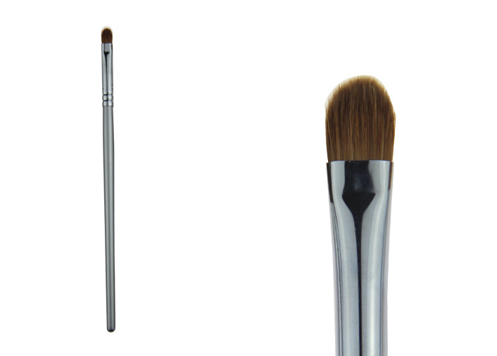 Small Silver Synthetic Hair Makeup Concealer Brush / Powder Foundation Brush