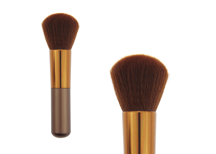 Large Angled Contour Makeup Blush Brush For Foundation , Private Label